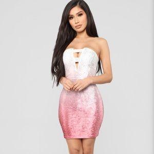 Pink ombré dress